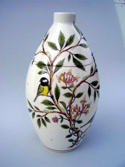 Great Tit Hand Painted Urn