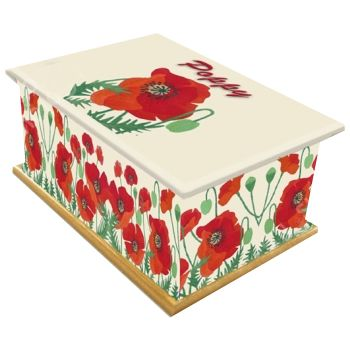 Poppy Ashes Casket