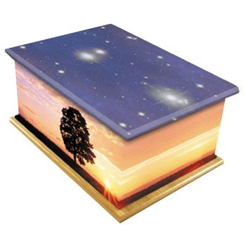 Starry Sunset Ashes Casket