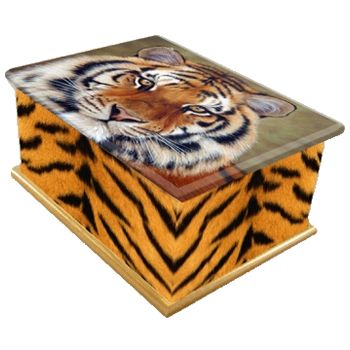 Tiger Ashes Casket