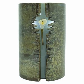 Wrapped Lily Ceramic Urn