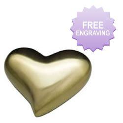 Modern Brushed Gold Heart