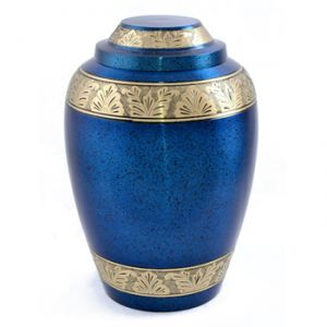 Blue Alloy Urn