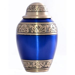 Blue Alloy Keepsake Urn