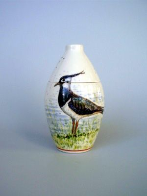 Lapwing Hand Painted Urn