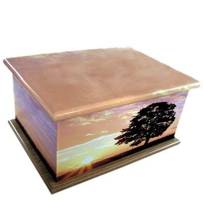 Sunset Ashes Casket