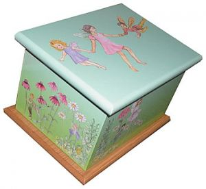Fairyland Green Ashes Casket