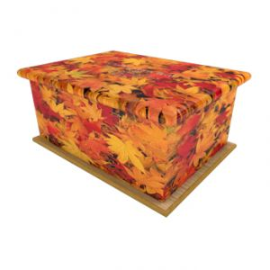 Autumn Leaves Ashes Casket