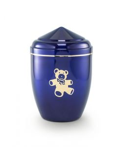 Blue Teddy Urn