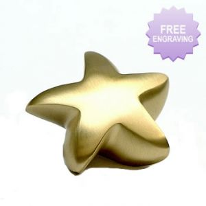 Brass Star Keepsake Urn