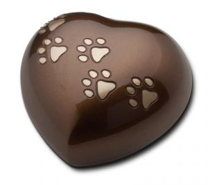 Brown Heart/Gold Paws