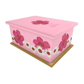 Pretty N Pink Ashes Casket