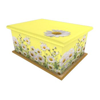 Wild Daisy Yellow Ashes Casket