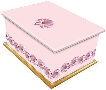 Pink Daisy Chain Ashes Casket