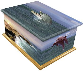 Dolphins Ashes Casket