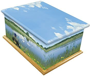 River Fishing Ashes Casket