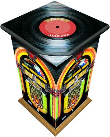 Juke Box Tall Ashes Casket