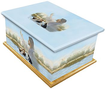 Loaves and Fishes Ashes Casket