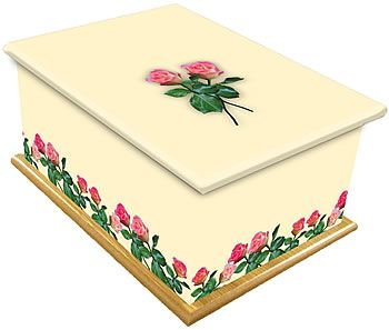 Roses Ashes Casket
