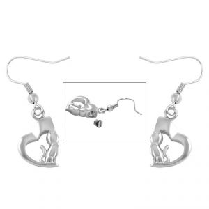 Silver Cat Earings