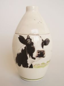 Country Life Hand Painted Urn
