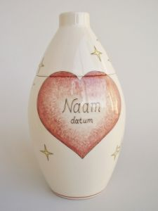 Heart hand Painted Urn