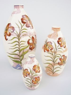Lily Hand Painted Urn