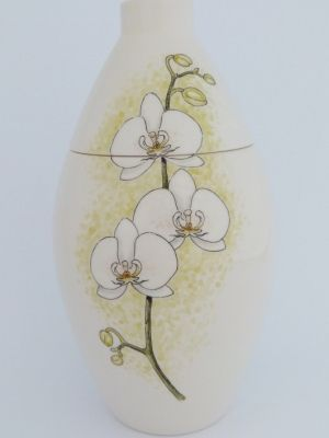 Orchid Hand Painted Urn