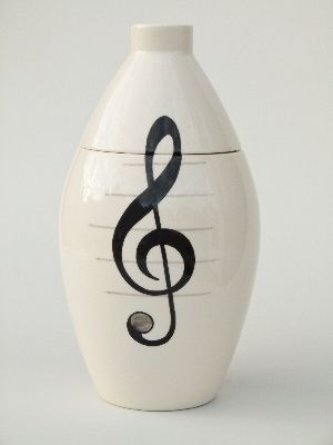 Music Hand Painted Urn