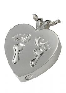 Baby Footprints Heart Pendant