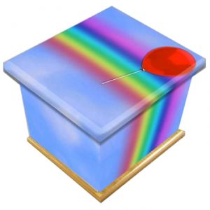 Bright Rainbow Ashes Casket