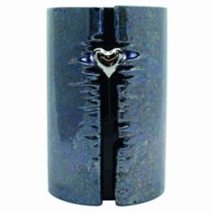 Wrapped Heart Ceramic Urn