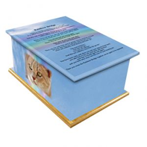 Rainbow Bridge Pet Casket