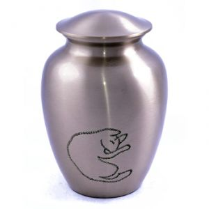 Solid Brass Cat Urn