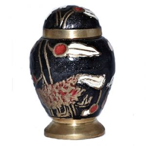 Black Garden Keepsake Urn