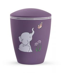 Biodegradable Puple Elephant Urn