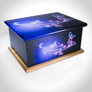 Sparkle Crystal Butterfly Ashes Casket