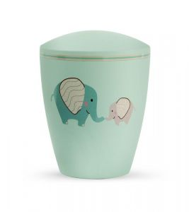 Biodegradable Mint Elephants Urn