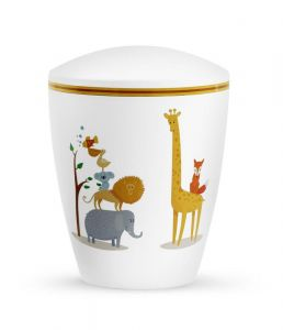 Biodegradable White Animals Urn