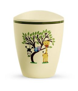 Biodegradable Yellow Animals Urn