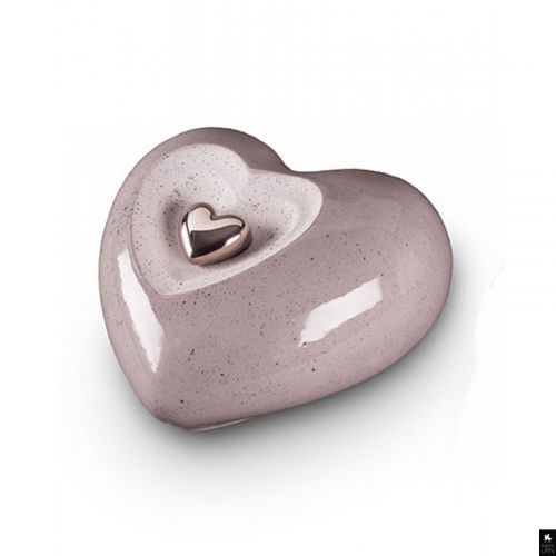 Double Heart Ceramic Urn