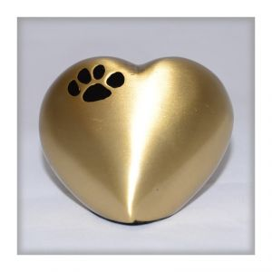 Gold  Heart Paw Print