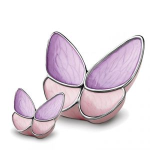 Lavender Butterfly urn