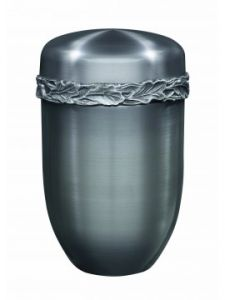 Poynton Brushed Silver Leaf Urn