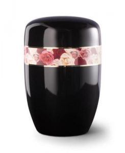 Black Rose Steel Urn