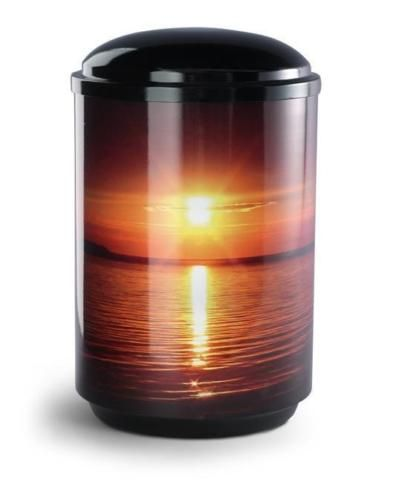 Ocean Sunset Steel Urn