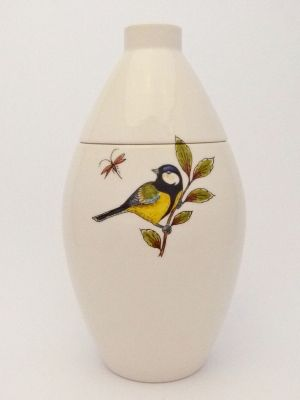 Coal Tit Basic Hand Painted Urn