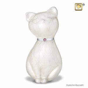 Swarovski Crystal White Cat